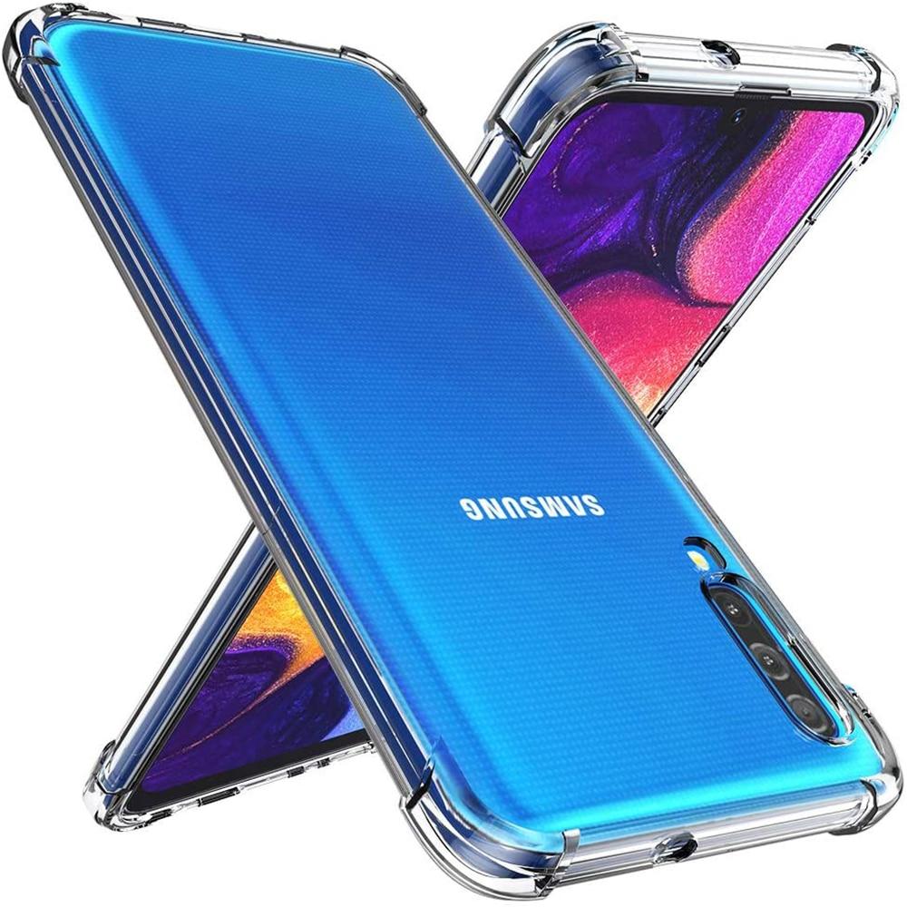 Прозрачный чехол для телефона Samsung Galaxy A90 A80 A70 A60 A50 A40 A30 J3 J4 J7 J3 Pro J7 Pro J4 J6 2018, противоударный чехол