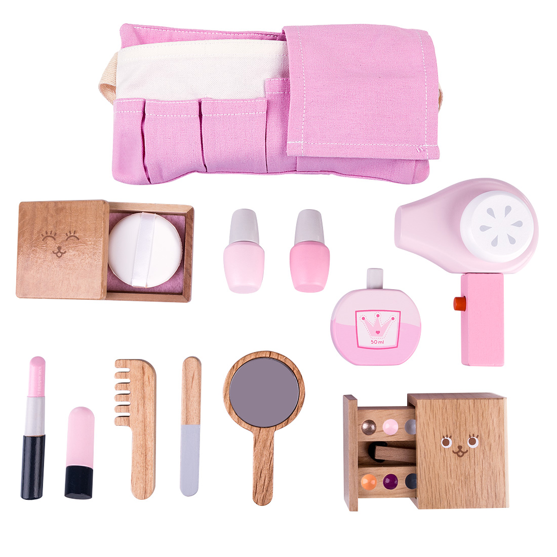 12Pcs Children Wooden Makeup Pretend Play Set Simulation Hair Dryer Toys Kids Birthdaty Gifts 2020