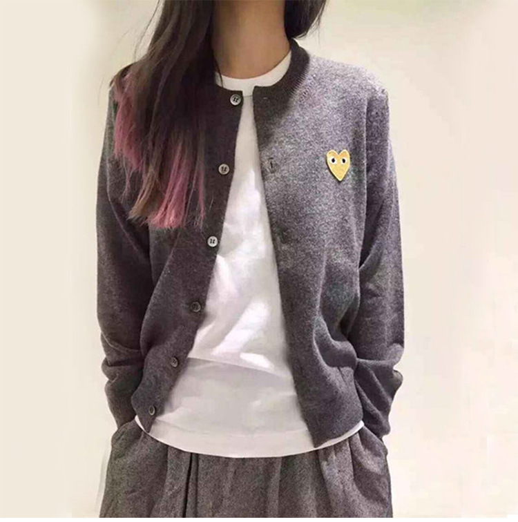2018 Spring And Autumn New Style Women's Wool Knitted Cardigan Crew Neck Men And Women Couple Clothes Slim Fit Heart Sweater Lon