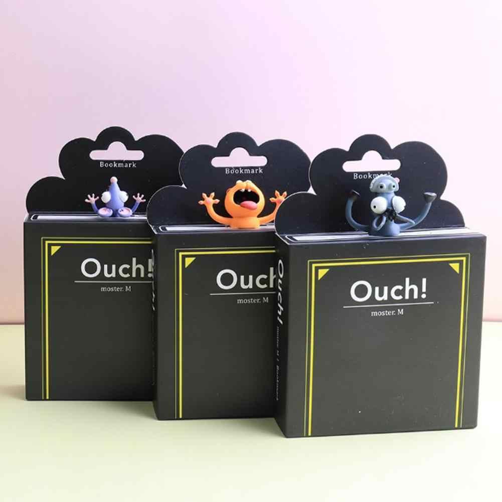 Kawaii 3D Tier Gequetscht Katze Kaninchen Maus Lesezeichen Kreative Wolf Buch Marks Für Kinder Mädchen Geschenk Büro Schule Kawaii Schreibwaren