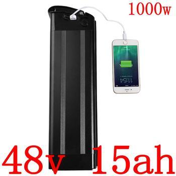 Batería de bicicleta eléctrica 48V 500W 750W 1000W 48V 15AH batería de litio 48V 10AH 13AH 15AH ebike batería de descarga inferior