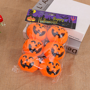 Image 5 - Halloween Party Props Plastic Pumpkin Bucket Trick Treat Cosplay Plastic Decoration Pouch Holder Halloween Decoration