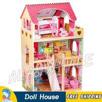 Miniature Princess Doll House DIY Wooden Dollhouse With Furnitures Adult Teenager Toys Figure Building Gifts Sets