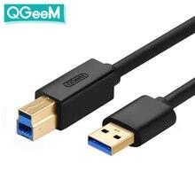 Cable USB 3,0 tipo A macho A B macho, Cable de impresión de datos de supervelocidad sincronizar 2M para disco duro HDD/SSD 2,5 de 3,5 pulgadas