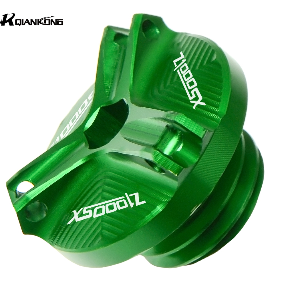 For <font><b>Kawasaki</b></font> <font><b>Z1000SX</b></font> Z1000 SX 2016 2017 2018 <font><b>2019</b></font> 2013 Motorcycle Aluminum M20*2.5 CNC Engine Oil Filter Cup Plug Cover Screw image