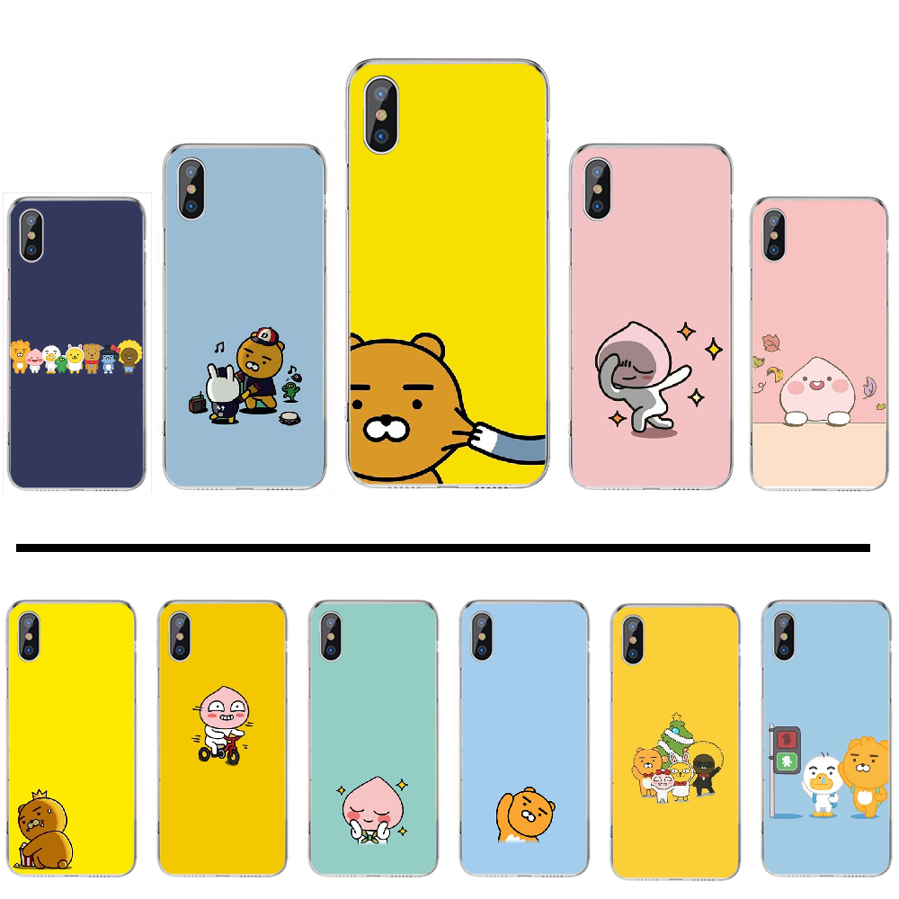 <font><b>Korean</b></font> cartoon funny cocoa friend TPU Soft Silicone Phone <font><b>Case</b></font> Cover For <font><b>iphone</b></font> 4 4s 5 5s 5c se <font><b>6</b></font> 6s 7 8 <font><b>plus</b></font> x xs xr 11 pro max image