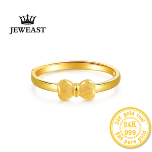 Image 2 - XXX 24K Gold Ring Pure Real Pattern Exquisite Fine Jewelry Resizable Design Fashion Female New Hot Sale 999 Trendy Party Women