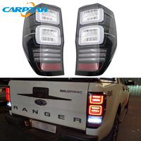 Car Styling Taillight Tail Lights For Ford Ranger T7 T8 2015 2019 Rear Lamp DRL + Turn Signal + Brake + Reverse LED lights