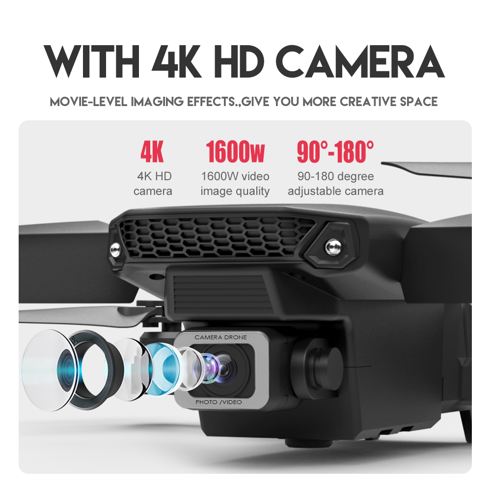 Drone Mini E525 Pro HD 4K 1080P Camera Obstacle Avoidance WiFi FPV Maintaining RC Foldable 3-Sided Drone 4k Profesional Kid 5