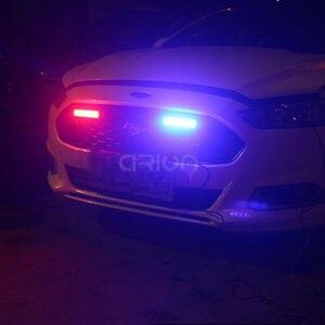 Image 5 - 40W 80W COB Car Truck Grille LED Strobe Light Fireman Police Flashing Emergency Warning lights Red Blue Yellow White 12V 24V