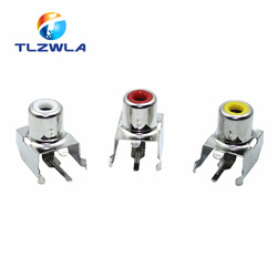 5 uds. AV-8.4-3 conector con perno AV 3 Color RCA hembra Audio Video conector AV