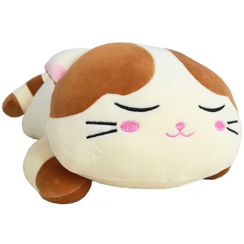 新クリエイティブクリスマスぬいぐるみ猫のおもちゃ子供のためのソフトぬいぐるみダウン綿枕漫画の動物の子供ベビードール誕生日ギフト