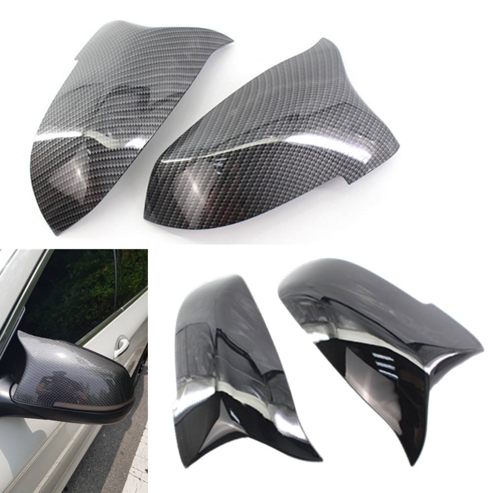 Pair Car Side Rearview Mirror Cover Caps Replacement For <font><b>BMW</b></font> 5 6 7 Series F10 F18 <font><b>F11</b></font> F06 F07 F12 F13 F01 F02 2014 <font><b>2015</b></font> 2016 image