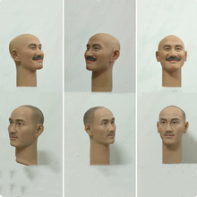 In Stock 1/6 Scale Male Figure Accessory Jiang Jieshi Head Sculpt Carved Accessory Model for 12 inches Body Old version 1 6 scale toy head sculpt donnie yen yip man 3 fit 12 hottoy figure toys in stock
