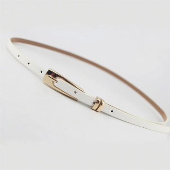 New big-name designer simple style belt PU patent leather long U-shaped buckle fine ladies luxury brand belts for women