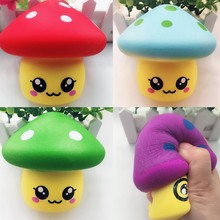 Slow rebound Big Mushroom Cartoon Toy Squishy Resin Craft Decompression Vent Decompression Relieves Pressure Lovely Kawaii Funny(China)