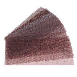 45Pcs 198*70MM Sandpaper Auto Net Mesh Sanding Discs Dust Free Anti-blocking Hook Loop 80-600 Grit Dry Sanding Polishing