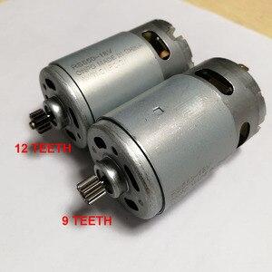 Двигатель RS550 9 12 зубьев DC 9,6 v 10,8 v 12V 14,4 V 16,8 v 18V 21,6 V 3,17mm вал для аккумуляторного заряда Дрель аксессуары для отверток