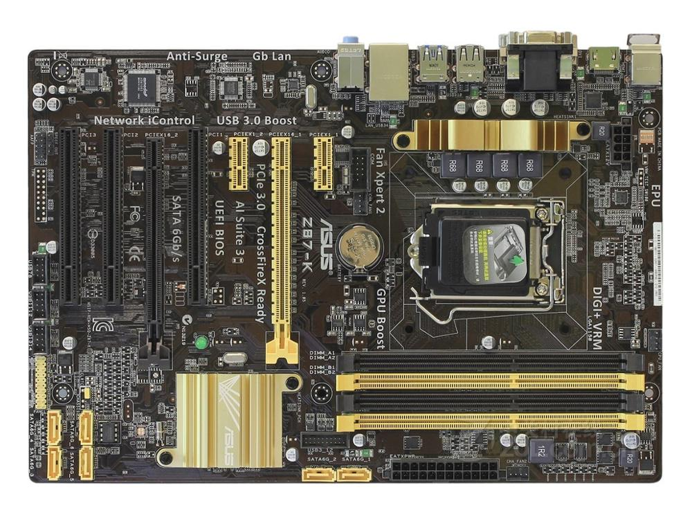 ASUS 1150 Used Motherboard Z87-K DDR3 USB3.0 32GB Good Condition Fully-tested