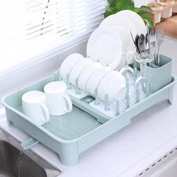 2 camadas de grande capacidade prato rack de mesa escorredor secagem rack dobrável placa cozinha titular armazenamento casa louça prateleira
