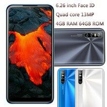 Y9 quad core 6.26 polegada 13mp hd câmera 4gb ram 64gb rom face id desbloqueado telefones celulares gota de água tela mtk android smartphones