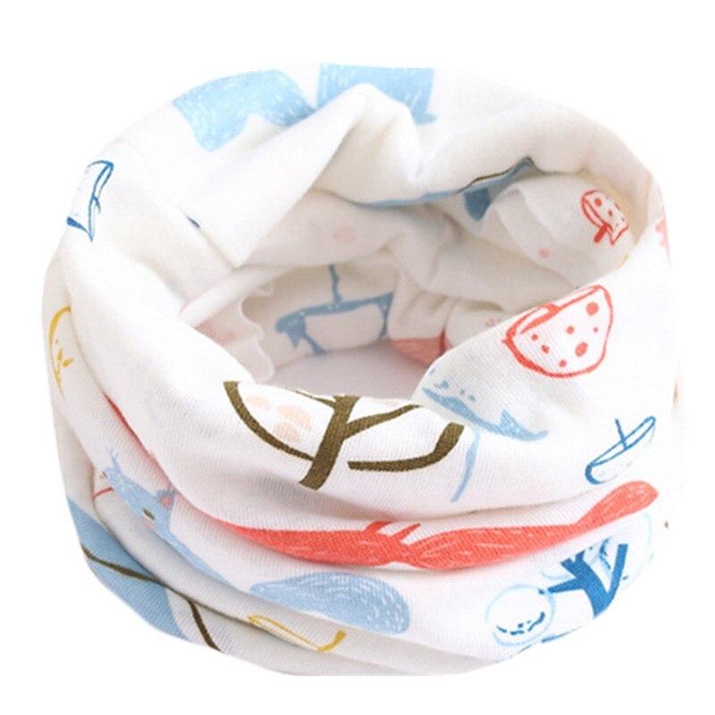 Весенне-осенне-зимний детский хлопковый шарф для От 0 до 10 лет, Детские шарфы с героями мультфильмов, модный теплый воротник - Цвет: 24