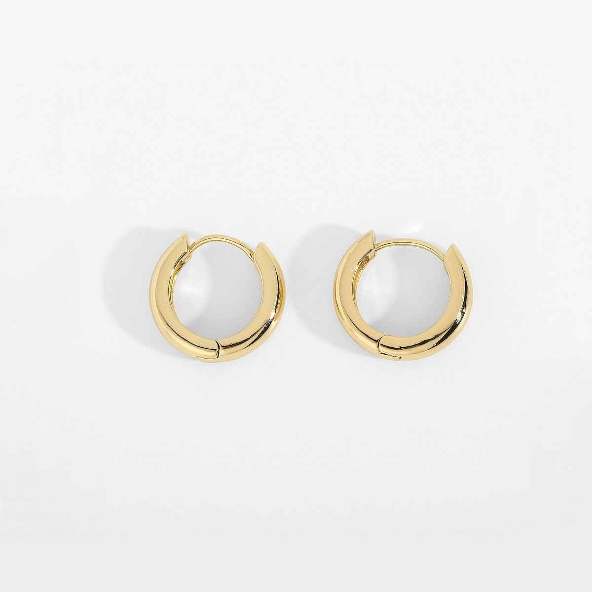 Gold Hoop Trendy semi Épais Torsadé Boucles D/'oreilles Boutique