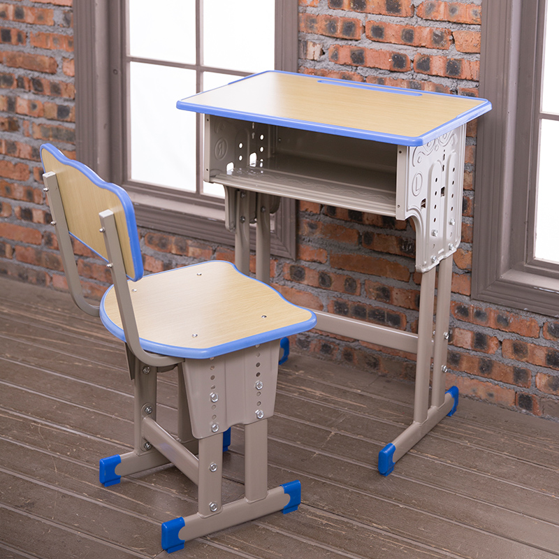Single Double Schoolchildren Desks And Chairs Home Desk School Training Class Counseling Writing Desk