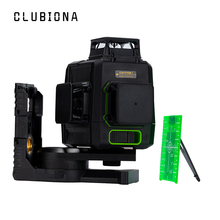 Clubiona CE certificated 3D Self-Leveling Laser Level with 360 degrees German Brand Laser Diode Super Powerful green Laser Line