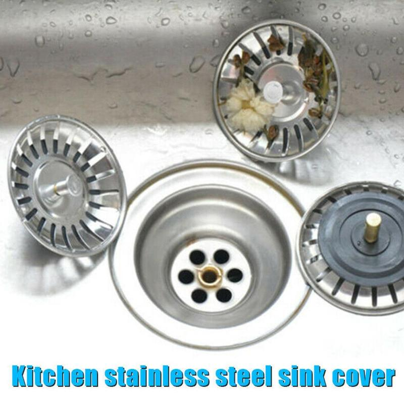 Stainless Steel ABS Kitchen Sink Stopper Plug For Bath Drain Drainer Strainer Basin Water Rubber Sink Cover Sinkhole