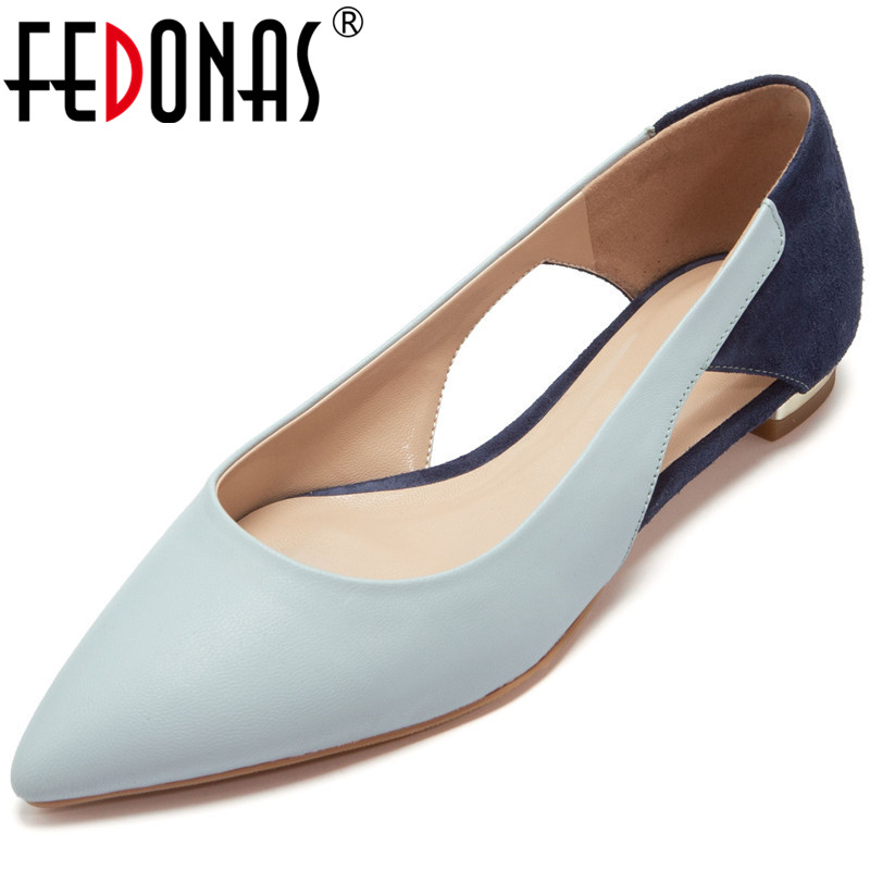 FEDONAS  Women Sandals Cow Leather Very Comfortable And Popular Slip On New Arrival High Quality Summer Prom Shoes Woman