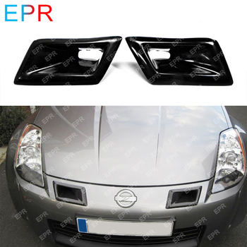Fiber Glass Bumper Ducts For Nissan 350Z Z33 Body Kit Auto Tuning Part For 350Z Fiberglass Nismo Front Bumper Ducts Air Intake