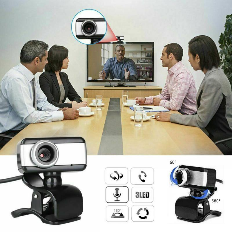 HD Computer Webcam USB Web Camera With Microphone Webcams Built-In Sound-absorbing Microphone 640 X 480 Dynamic Resolution