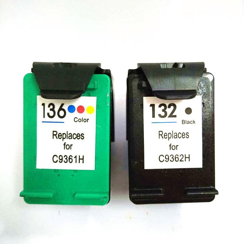 vilaxh 132 136 compativel cartucho de tinta substituicao para hp 132 136 para photosmart 2573 c3183