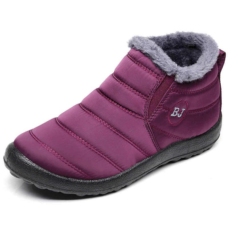 Mannen Laarzen 2019 Winter Schoenen Voor Mannen Snowboots Mode Mannen Enkellaars Waterdichte Winter Schoeisel Warme Slip Op Winter sneakers
