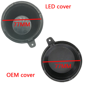 Image 5 - 1 pc for kia Sorento Front lamp dust boot Lamp accessories Bulb trim panel Lamp shell Xenon lamp LED bulb extension dust cover