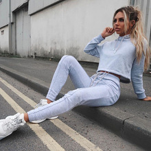 Women Tracksuit Sets Sport Hoodie Suits Long Sleeve Hooded + Pants Outfit Sweatshirt Sportwear Gyms Fitness 2 pieces