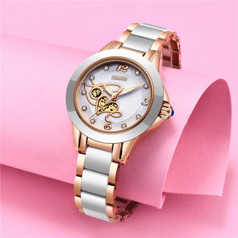 Image 5 - SUNKTA Simulation Quartz Women Watches Top Brand Luxury Simple Clock Women Girl Bracelet Diamond Watches Ladies Relogio Feminino-in Women's Watches from Watches