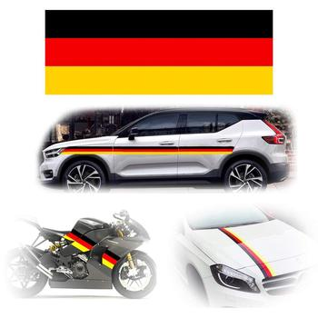 Germany Flag Color Stripe Decal Sticker for Euro Car Audi BMW Mini Mercedes Porsche Volkswagen Exterior or Interior Decoration image
