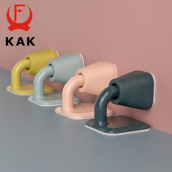 KAK Silicone Rubber Door Stop Non Punch Holder Nordic Style Mute Noiseless Stopper Buffer Damper Hardware