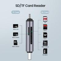 עבור מחשב USB קורא כרטיסים Ugreen 3.0 סוג C כדי SD Micro SD TF מתאם עבור מחשב נייד אביזרים OTG Cardreader חכם זיכרון SD Card Reader (3)
