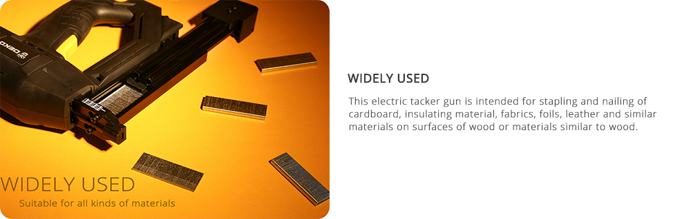 Why people use DEKO DKET02 Electric Tacker