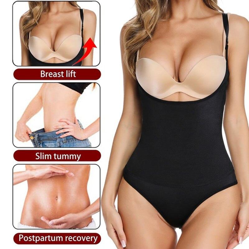 Women Latex Body Shaper Waist Trainer Slimming Underwear Shapewear Bodysuit Modeling Strap Plus Size Recovery Sexy Corset Faja