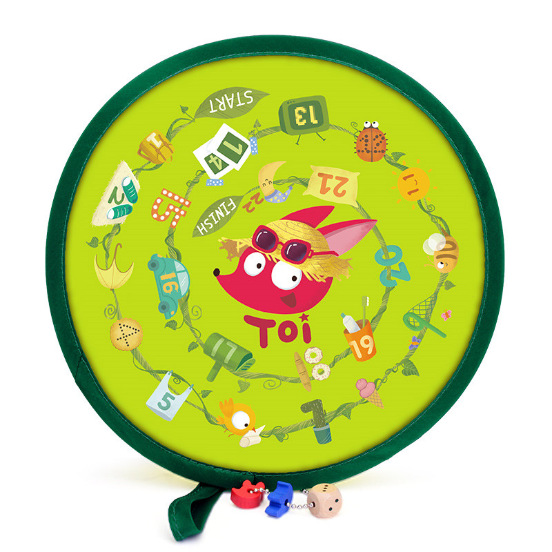 Baby Outdoor Fun Montessori Educational Math Toys Hand Fan Developing Intelligence Game Round Hand Fan 20 7 20 7cm in Math Toys from Toys Hobbies