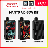 Hot Rincoe Manto AIO 80W Pod Mod Kit powered by single 18650 battery with max 80W output Electronic Cigarette vape kit vs hugo