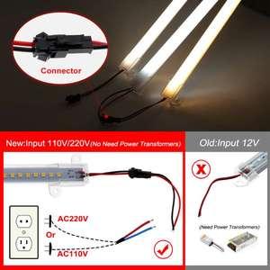 Image 4 - LED Bar Light 220V 110V High Brightness 8W 50cm 72LEDs 2835 LED Rigid Strip Energy Saving LED Fluorescent Tubes 5pcs/lot.