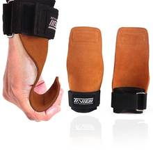 Gym Gloves Grips Anti-Skid Weight Lifting Deadlifts Workout Crossfit Fi