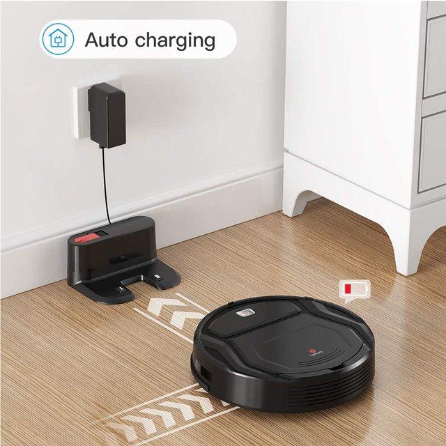 Lefant M201 Mini Robot Vacuum Cleaner For Home pet hair, hard floor, low pile carpets,super quiet 1800pa with WiFi/App/Alexa 6