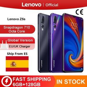 Глобальная версия Lenovo Z5s Snapdragon 710 Octa Core 64 Гб 128 Гб Смартфон Face ID 6,3 AI тройной камера заднего вида для Android P мобильного телефона