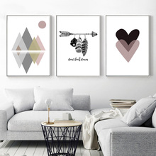 купить Living Room Sofa Background Wall Decoration Geometric Abstract Art Painting Bedroom Porch Corridor Hanging Picture Frameless в интернет-магазине